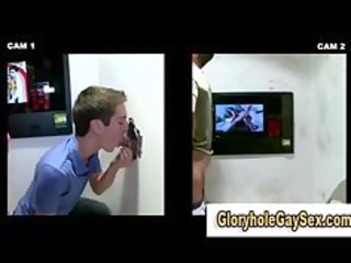 homosexual str gloryhole blowjob