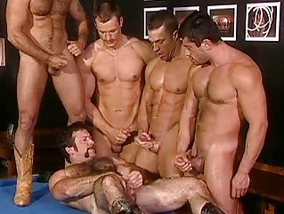 hard group fuckfest with horny homosexual hunks