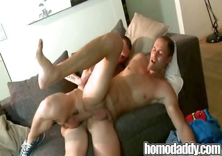 raw cock play on homosexual daddy
