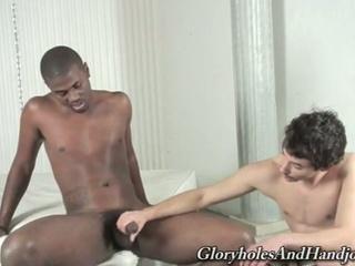 horny darksome homosexual hunk enjoying wicked