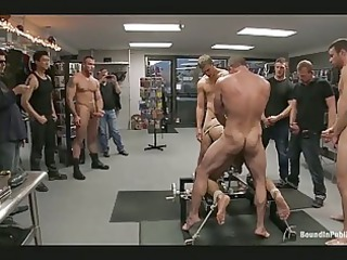 homosexual hunk receives tied up and drilled