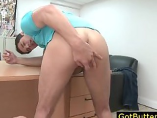 dude prepping his backdoor for some hard part0