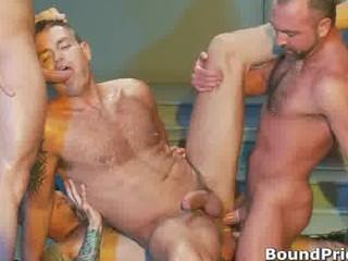 extreme homosexual sadomasochism orgy movie scene