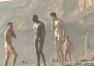 stripped beach