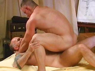 muscled homo males having doggy style sex in the