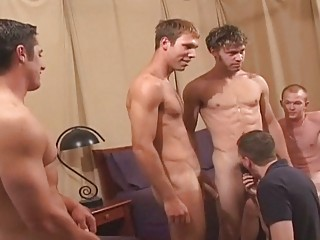 amazing gay dude group sex