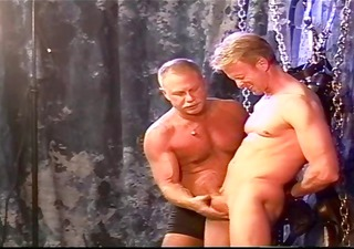 cbt golden-haired muscle boy is restrained and
