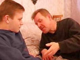 older gay dad seduces twink in bedroom