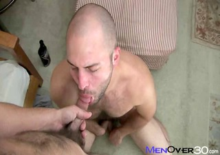 bald head and hairy david chase with chris stevens
