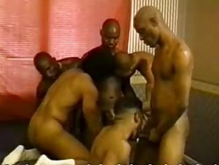black men have a fun group homosexual sex