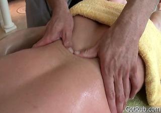 man gets his massive pierced ramrod massaged 1