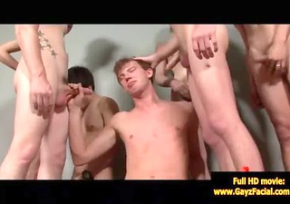 bukkake homo boys - wicked bareback facial jizz
