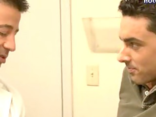 homosexual doctor doing oral-service and taking a