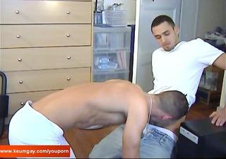 a hot arab repair boy acquires sucked in spite of