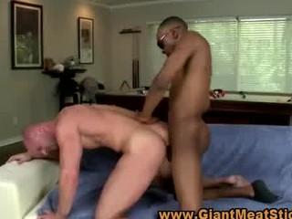 homosexual large dark dong interracial a-hole fuck