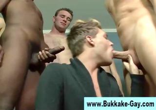 non-professional bukkake lad hunk sucks dicks
