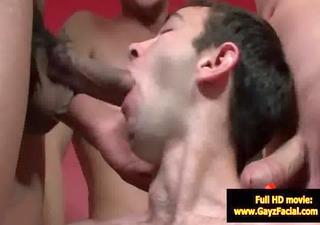 bukkake gay boyz - wicked bareback facial spunk