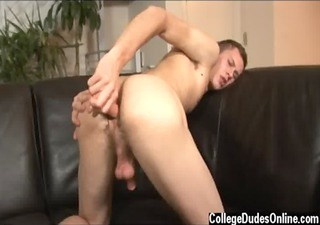mmf models jarrod relieves down on his dildo,
