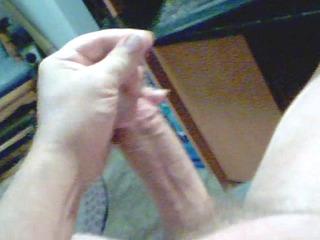 stroking my jock