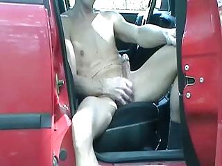 homosexual henndrik outdoor car solo naked show