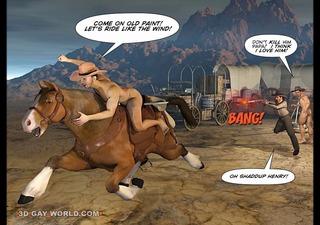 how west was hung 48d gay cowboys cartoon anime