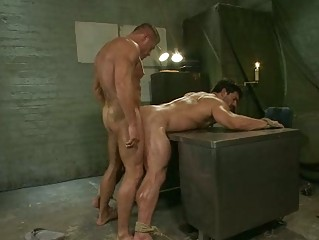 meaty army homosexual hunk got tortured with