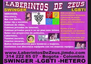 bogota= los laberintos de zeus, club gay,