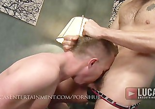 str lad makes bottom swallow piddle and take
