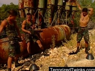 army twinks having brutal homo sex