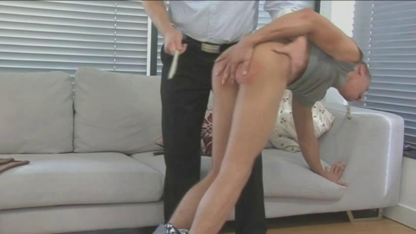 hunky homosexual fellow receives spanked and