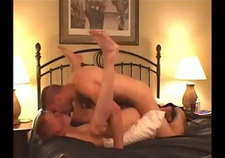 hairy dad fucks his boy bareback.