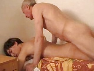 slim youthful twink receives fucked by his gay dad
